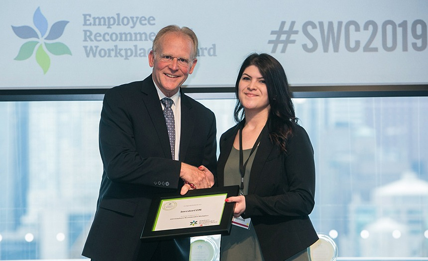 Employee Recommended Workplace Award 2019