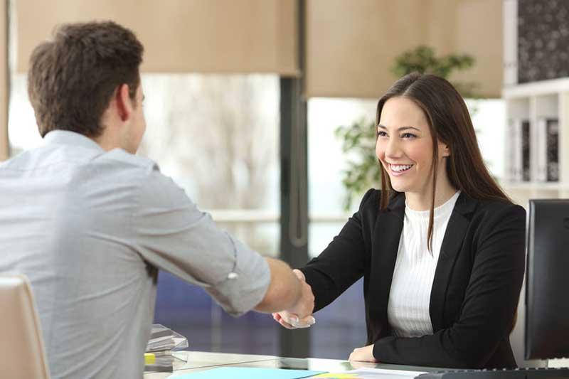 Client and Advisor Handshake